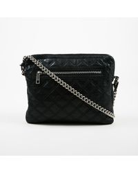 Marc Jacobs - Black Quilted Leather Silver Tone Chain Link Ipad Case Shoulder Bag - Lyst