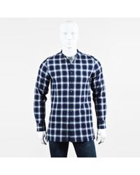 Ovadia And Sons - Mens Nwt Blue White Plaid Ls Button Up Chase Shirt - Lyst