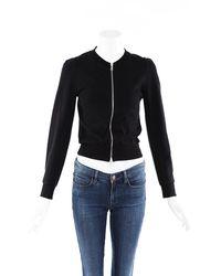 Dries Van Noten Cotton Knit Zip Sweater - Black