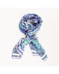 Emilio Pucci - Blue Linen Cotton Butterfly Scarf - Lyst
