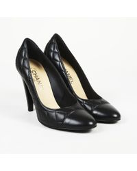 Chanel - Quilted Leather 'cc' Pumps - Lyst