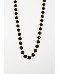 Irene Neuwirth Onyx Station Necklace Black/gold Sz: - Metallic