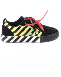 Off-White c/o Virgil Abloh Low Vulcanized Suede Sneakers - Black