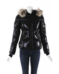 Sam. Asiatic Raccoon Fur Hooded Puffer Coat - Black