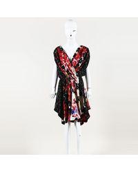 Vionnet Floral Print Silk Midi Dress - Red