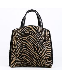 Nancy Gonzalez \n Multicolor Suede Handbag - Black