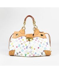"Louis Vuitton - White Multicolor Coated Canvas Monogram ""ursula Gm"" Satchel Bag - Lyst"
