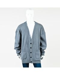 Faith Connexion - Mens Nwt Gray Wool Blend Knit Buttoned Oversized Cardigan - Lyst