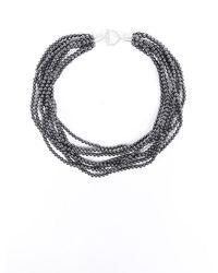 Tiffany & Co. Torsade Onyx Necklace Silver/gray Sz: - Metallic
