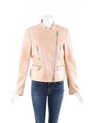 Belstaff - Leather Moto Jacket Brown Sz: M - Lyst