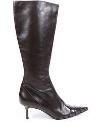 Chanel Vintage Leather Pointed Boots - Brown