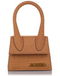 Jacquemus Le Chiquito Embossed Leather Crossbody Bag - Brown
