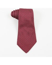 Hermès - Mens Red Silk Chaine D'ancre Printed Tie - Lyst