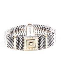 Lagos Caviar Diamond Sterling Silver Bracelet Silver/gold Sz: - Metallic