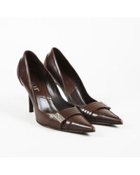 Dior Dior Leather Pointed Pumps