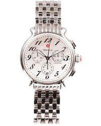 Michele Fluette Stainless Steel Diamond Watch Silver Sz: - Metallic