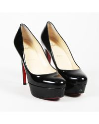"Christian Louboutin - Patent Leather ""bianca"" Platform Court Shoes - Lyst"