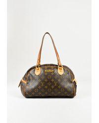 """Louis Vuitton - Brown Monogram Coated Canvas """"montorgueil Pm"""" Shoulder Bag - Lyst"""