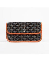 Goyard Black Cloth Clutch Bag