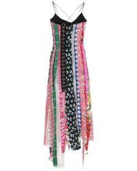 Angel Chen Fuchsia Patchwork 3/4 Short Casual Dress Sz: 4 - Multicolor