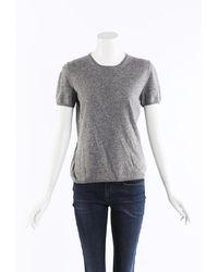 Loro Piana Cashmere Knit Sweater Gray Sz: M