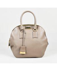 86f51315ed12 Burberry - Taupe Grained Leather Medium