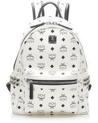 MCM Visetos Stark Backpack - White