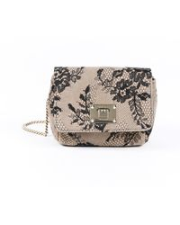 Jimmy Choo Mini Ruby Floral Lace Crossbody Bag - Natural