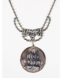 Tom Binns - Silver Tone Metal & Crystals Pendant Necklace - Lyst
