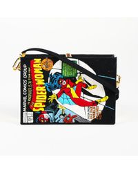 "Olympia Le-Tan Fabric ""spider-woman Comic Book"" Clutch Bag - Black"