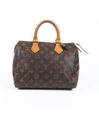 Louis Vuitton Vintage Speedy 25 Monogram Handbag - Brown