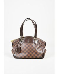 "Louis Vuitton - Brown ""damier Ebene"" Coated Canvas ""verona Pm"" Bag - Lyst"