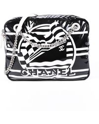 Chanel Black Vinyl La Pausa Camera Bag