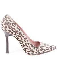 Manolo Blahnik Bb Animal Print Court Shoes Brown/animal Print Sz: 7.5 - Multicolour