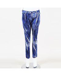 KENZO - Striped Denim Skinny Jeans - Lyst