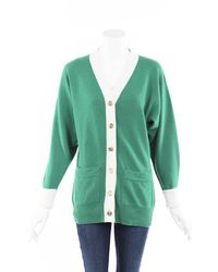 Chanel Cashmere Knit Cardigan - Green