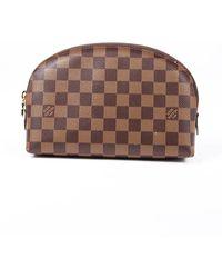 Louis Vuitton Cosmetic Pouch Gm Damier Ebene Coated Canvas Bag - Multicolour