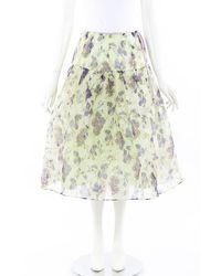 Leur Logette Antique Flower Skirt - Green
