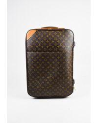 """Louis Vuitton - Brown Monogram Coated Canvas """"pegase 55"""" Suitcase - Lyst"""