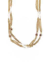 Chanel Vintage Pearl Gripoix Chain Necklace Gold/multicolor Sz: - Multicolour