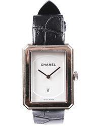 Chanel Boy Friend Beige Gold Alligator Watch - Metallic