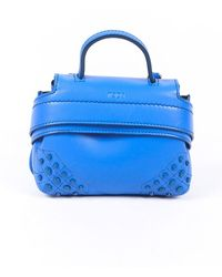 Tod's Micro Wave Leather Bag - Blue
