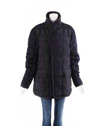 Moncler Philemon Giacca Plaid Wool Puffer Coat Men's - Black
