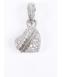 Judith Ripka Cubic Zirconia Heart Pendant Silver Sz: - Metallic