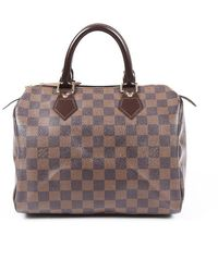 Louis Vuitton Speedy 25 Damier Ebene Bag - Brown
