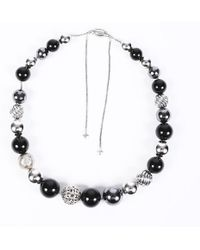 David Yurman Dy Elemence Onyx Hematite Necklace - Metallic