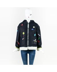 "Mira Mikati - Multicolor Denim Hand-painted ""play More"" Jacket - Lyst"