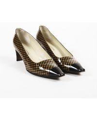Louis Vuitton - Damier Ebene Leather Pumps - Lyst