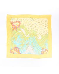 Hermès A Contre-courant 90cm Scarf - Yellow