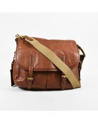 Ralph Lauren - Brown Leather Shoulder Bag - Lyst